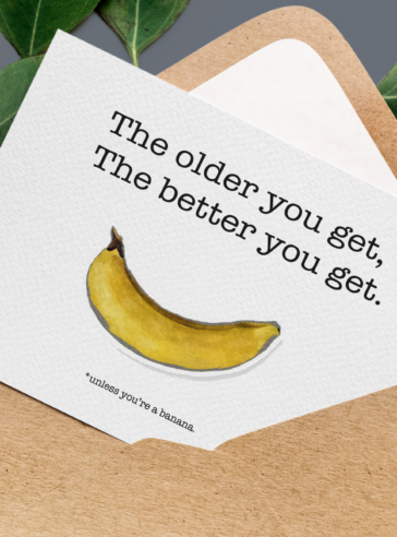 Unless you're a banana ~ Kartpostal