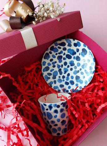 Mavi Boncuk Fincan Hazır Hediye Kutusu